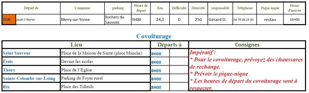 Randonnée du jeudi 7 février 2019 @ Rochers du Saussois | Merry-sur-Yonne | Bourgogne-Franche-Comté | France