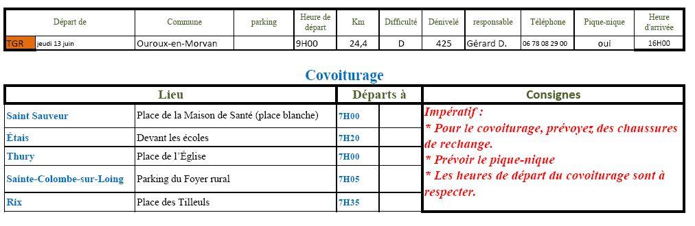 Randonnée du jeudi 13 juin 2019 @ Devant l'église d'Ouroux | Ouroux-en-Morvan | Bourgogne-Franche-Comté | France
